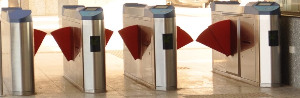 Fare Gates in Railway Station